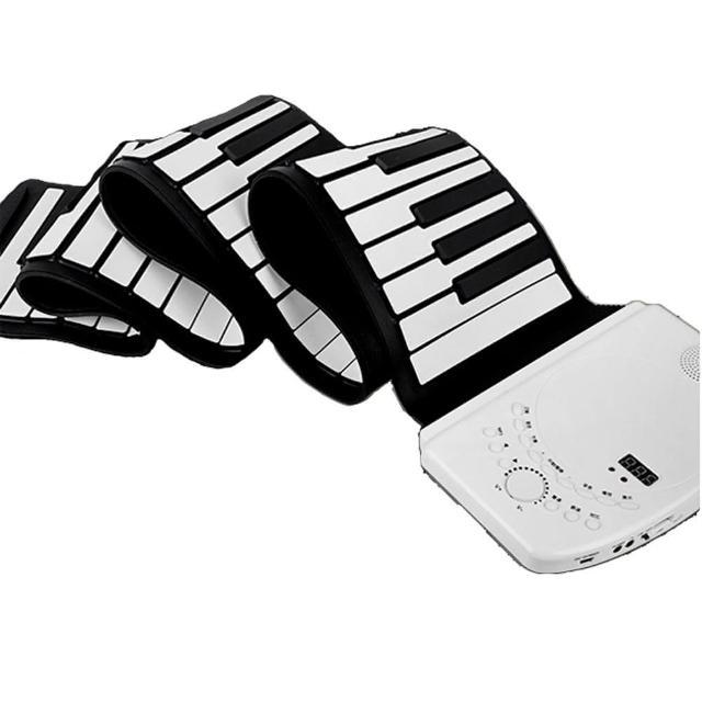 【JZ-88K】88鍵手捲式電子琴 軟鍵可攜帶、鋰電池充電(外出練琴的好夥伴、基本款軟鋼琴)