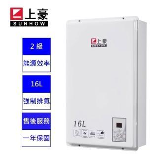 【上豪】16L 數位溫控 熱水器  GS-163 天然瓦斯  ★ 含基本安裝 ★(能源效率2 級)