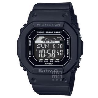 【CASIO 卡西歐】卡西歐 Baby-G 潮汐電子錶-黑(BLX-560-1)