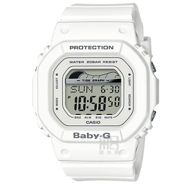 【CASIO 卡西歐】卡西歐 Baby-G 潮汐電子錶-白(BLX-560-7)