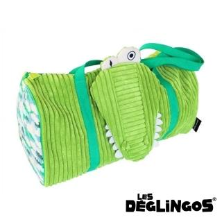 【Les Deglingos】立體玩偶旅行側背包、周末休閒包-鱷魚(ALIGATOS)