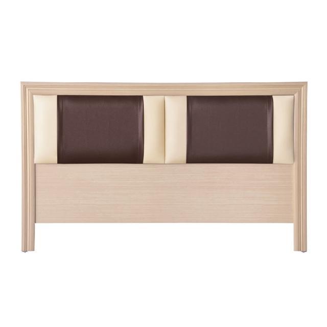 【AS】諾頓5尺白橡皮面床頭片-154x2x93cm