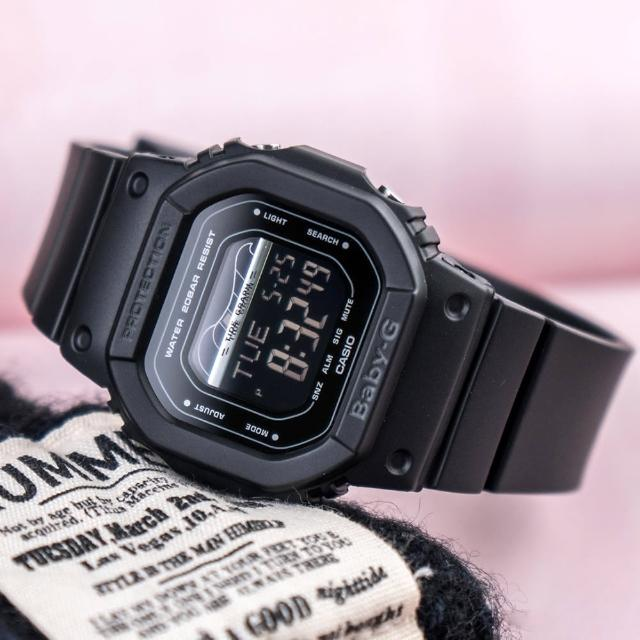 【CASIO 卡西歐】BABY-G 衝浪復古夏季時尚運動腕錶(BLX-560-1DR)