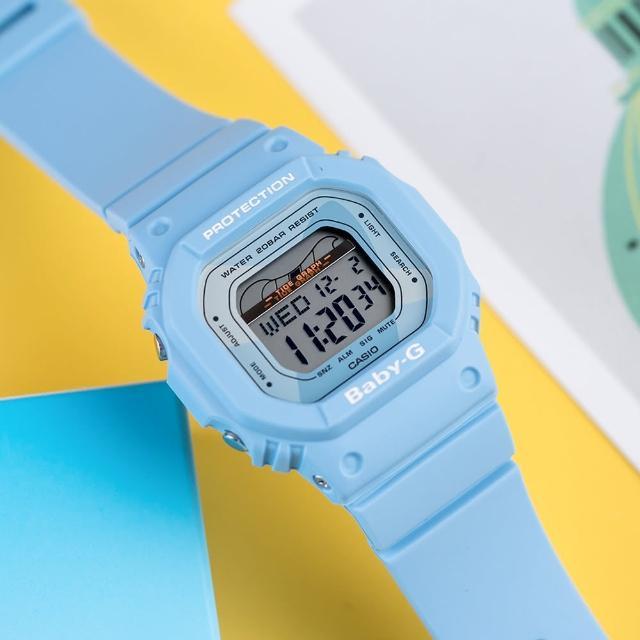 【CASIO 卡西歐】BABY-G 衝浪復古夏季時尚運動腕錶(BLX-560-2DR)