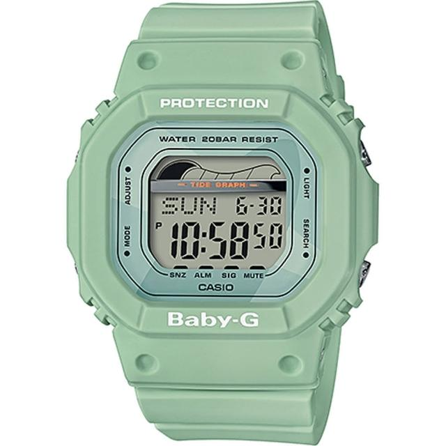 【CASIO 卡西歐】BABY-G 衝浪復古夏季時尚運動腕錶(BLX-560-3DR)