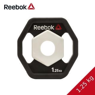 【REEBOK】八角PU槓片-1.25kg兩片(啞鈴/舉重/重訓)
