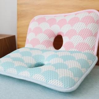 【日本YODO XIUI】嬰兒枕頭定型枕3D透氣網眼兒童防扁頭枕
