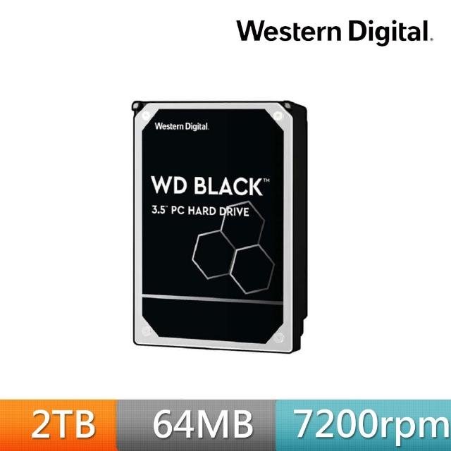 【WD 威騰】黑標 2TB 桌上型 3.5吋 高效能SATA硬碟(WD2003FZEX)