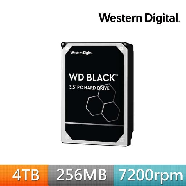 【WD 威騰】黑標 4TB 桌上型 3.5吋 高效能SATA硬碟(WD4005FZBX)