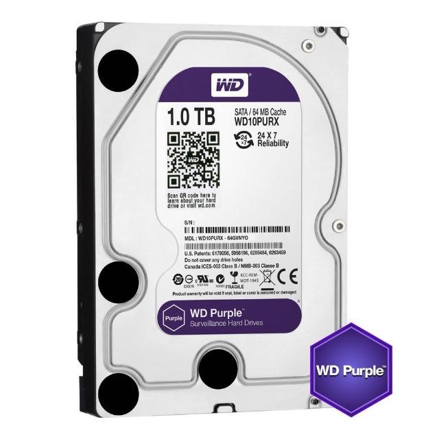 【WD 威騰】紫標 1TB 監控專用 3.5吋 SATA硬碟(WD10PURZ)