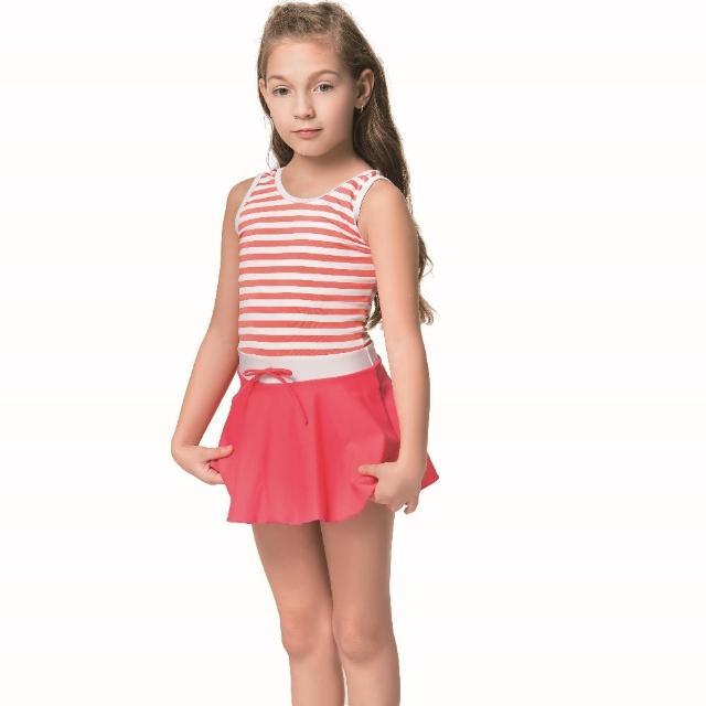 【SAIN SOU 聖手牌】SPA 泡湯女童連身裙泳裝附泳帽(A88702-01)