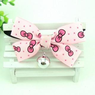 【Nikki飾品&玩具】甜美蝴蝶結項圈-中小型-粉色蝴蝶結