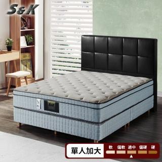 【S&K】乳膠記憶膠涼感蜂巢獨立筒床墊(單人加大3.5尺)
