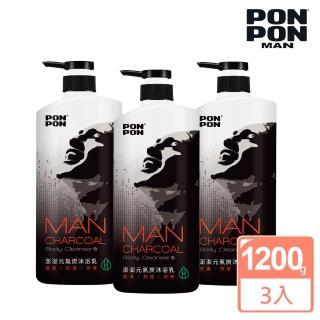 【澎澎MAN】植系沐浴乳 元氣炭控油-1200gx3(團購優惠組)