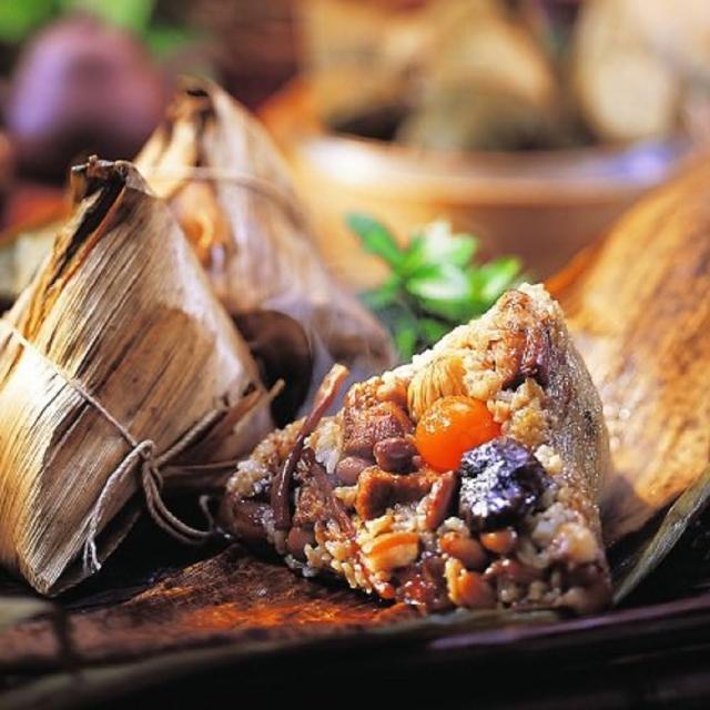 【品香肉粽專家】極品八寶肉粽6入+台南傳統肉粽10入(超值組)