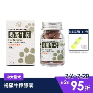 【現代百益康】褐藻牛樟膠囊  中大型犬30粒(病弱、癌症寵物保健補養)