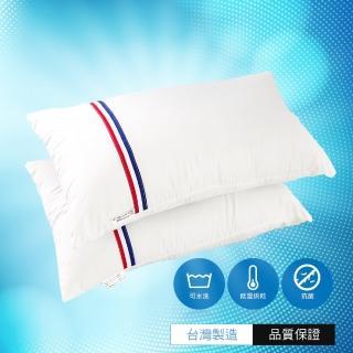 【A-ONE】台灣製 - 抗菌可水洗枕 使用大和SEK抗菌技術/真空壓縮包裝/可拆式內套/不易變形