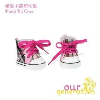 【our generation】格紋中筒帆布鞋