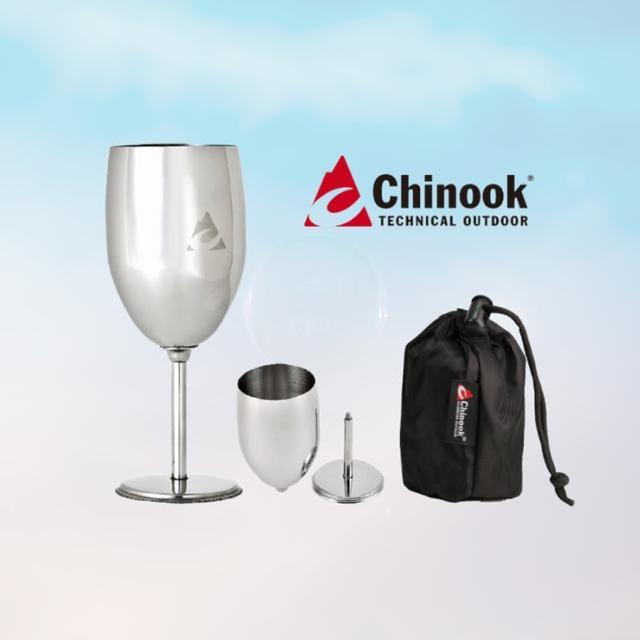 【Chinook】不鏽鋼紅酒杯(露營登山用具)