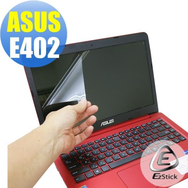 【Ezstick】ASUS E402 E402N E402NA E402M E402MA E402SA 靜電式筆電LCD液晶螢幕貼(可選鏡面或霧面)