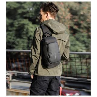 【leaper】kaka時尚休閒USB充電單肩包胸包