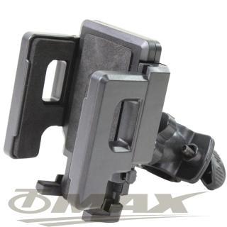 【OMAX】新360度可調整自行車手機架-1入(自行車專用)