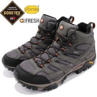 【MERRELL】戶外鞋 Moab 2 MID GTX 男鞋 Vibram 耐磨 健行 登山 防水 灰 綠(ML06059)