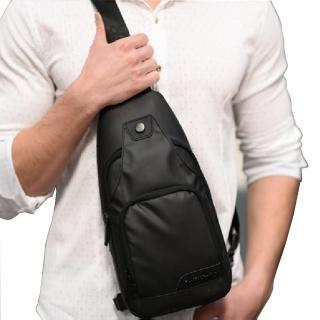 【PUSH!】戶外用品 防水單肩斜背包旅遊包學生包3C小包商務包防搶包手機包(U52)