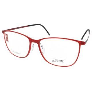 【Silhouette詩樂眼鏡】時尚鈦金屬系列(紅#ST1559 6063)