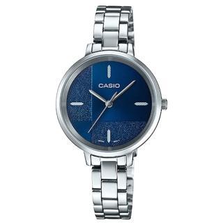 【CASIO 卡西歐】簡約指針女錶 不鏽鋼錶帶 割造型錶面 防水(LTP-E152D-2E)