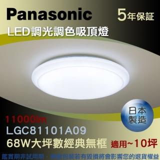【Panasonic 國際牌】LED調光調色吸頂燈 68W大坪數經典無框(HH-LAZ6039209)
