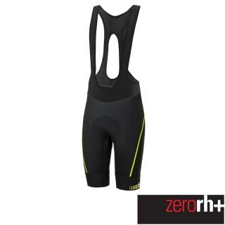 【ZeroRH+】義大利專業Absolute AirX 男仕競賽級吊帶自行車褲(黑/螢光黃 ECU0517_917)