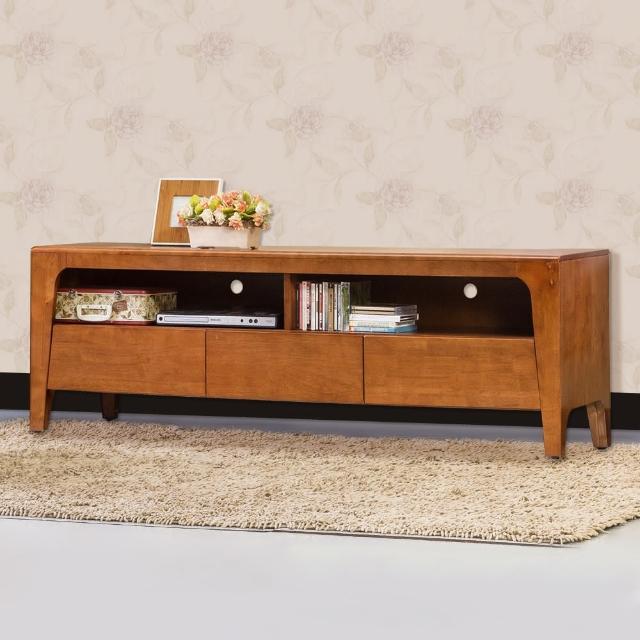 【Bernice】森克5.1尺全實木電視櫃/長櫃(柚木色)