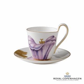 【Royal Copenhagen 皇家哥本哈根】骨瓷杯碟270ml(芙蘿拉花神-牽牛花)