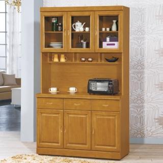 【AS】康奈爾樟木4尺碗盤櫃全組-120x44x205cm