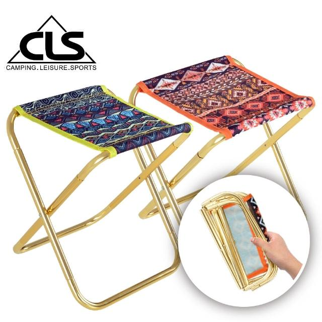 【SELPA】民族风特殊收纳铝合金折叠椅/行军椅/板凳/登山/露营(两色任选)