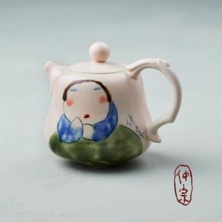【吳仲宗】胖太太系列 - 葫蘆壺 - 藕粉(黛藍衣)