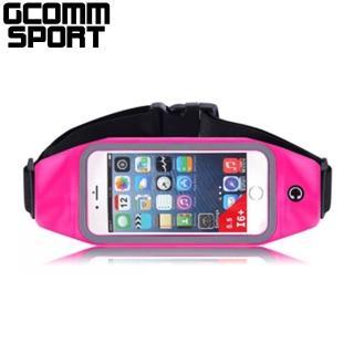 【GCOMM SPORT】穿戴式音樂防汗水運動腰包(5.7吋手機可入 玫紅色)
