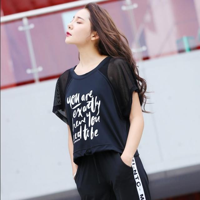 【狐狸姬】可縮腰短袖泳運動罩衫(單上衣)