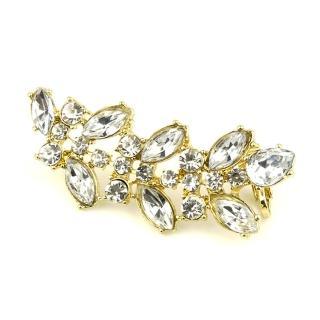 【Lady c.c.】精巧美鑽稻穗造型耳環(金)