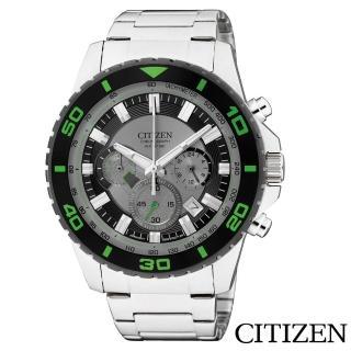 【CITIZEN 星辰】超越巔峰視距儀三眼石英腕錶(AN8030-58G)