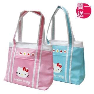 【imitu 米圖】HELLO KITTY 凱蒂貓防水萬用手提餐袋(買一送一)