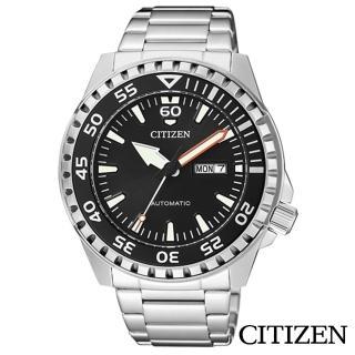 【CITIZEN 星辰】成熟感純黑運動風夜光機械腕錶(NH8388-81E)