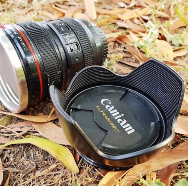 【May shop】遮光罩款 單眼相機鏡頭杯(新款附杯蓋 2入一組)