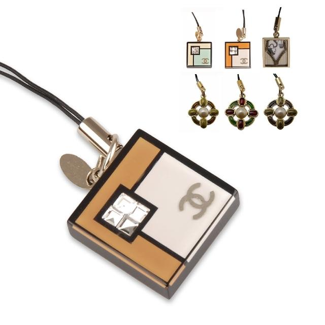 【CHANEL 香奈兒】金屬水鑽相框萬用吊飾(多款均一價)