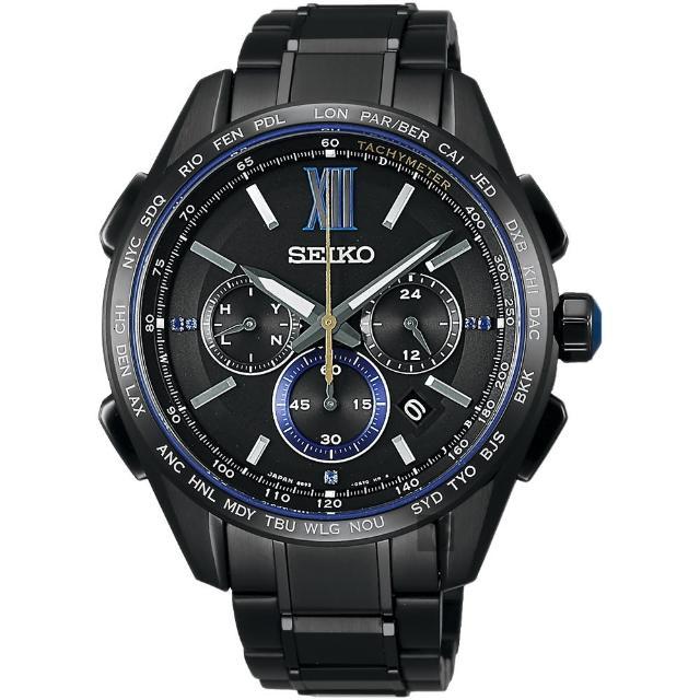 SEIKO精工 Brightz 135週年限量鈦計時太陽能電波腕錶(SAGA227J)