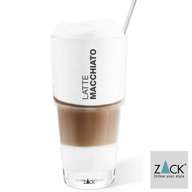 【德國 ZACK】時尚精品 拿鐵摩卡咖啡杯+匙《歐型精品館》(316不鏽鋼18/10)