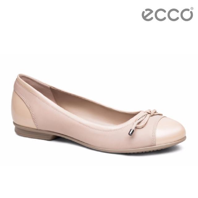 【ecco】TOUCH BALLERINA 拼接漆皮娃娃鞋(粉 26550350366)