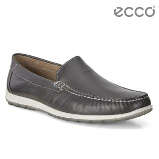 【ecco】DIP MOC 簡約輕便莫卡辛鞋(深灰 66040401532)
