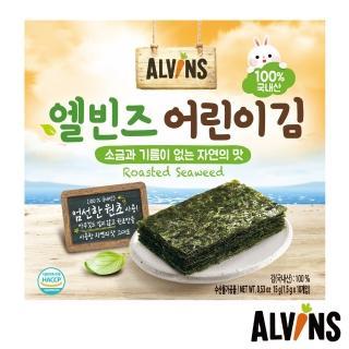 【韓國ALVINS】愛彬思烘烤寶寶海苔15g(1.5gX10包入/盒)